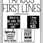 Famous First Lines: Book Quote Posters (with black AND white backgrounds)