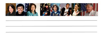Famous Hispanic Americans Writing Template