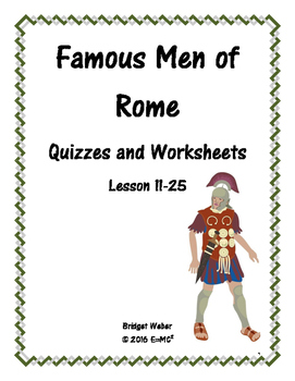Famous Men of Rome Quizzes and Worksheets Lesson 11-25