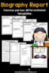 Famous Person Report: Tiered Report Writing Templates