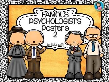 Famous Psychologists Poster set 2