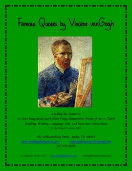 Famous Quotes by Vincent vanGogh
