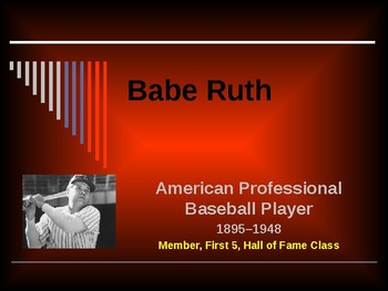 Sports & Entertainment - Babe Ruth
