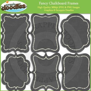 Fancy Chalkboard Frames