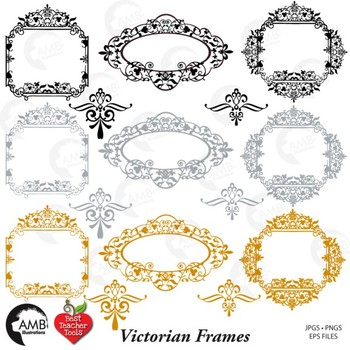 Frames clipart, Fancy Frames Clip Art, AMB-804