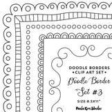"""Doodle Border Set #3 - 8.5x11"""""""