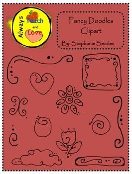 Fancy Doodles Clipart Bundles