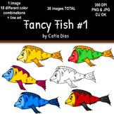 Fancy Fish Clip Art #1