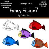 Fancy Fish Clip Art #7