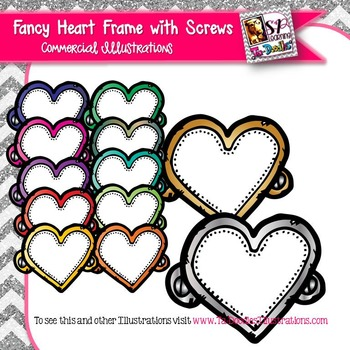 Fancy Heart Frame Clip Art