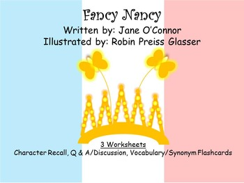 GUIDED READING: Fancy Nancy - Worksheets
