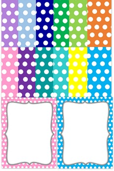 Background Templates - Fancy Paper with Polka Dots