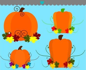 Fancy Pumpkins Clip Art