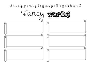 Fancy Words wordwork