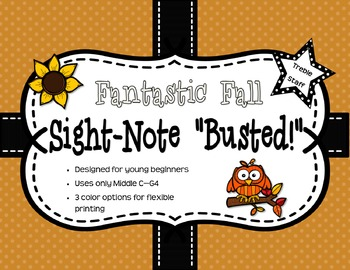 """Fantastic Fall Sight-Note """"Busted"""" - Treble Staff"""