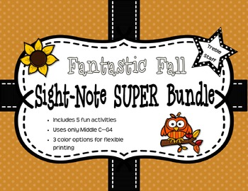 Fantastic Fall Sight Note Super Bundle: Treble Staff