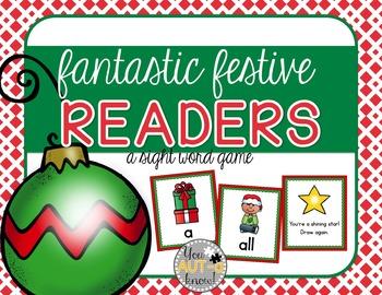Fantastic Festive Readers (A Sight Word Game) EDITABLE Car