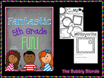 Fantastic Fifth Grade Fun-  Fun for the First Week of School