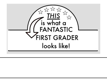 Fantastic First Grader Crown
