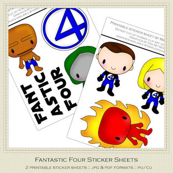 Fantastic Four Printable Graphics Sheets