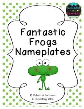 Fantastic Frogs Nameplates