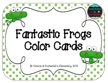 Fantastic Frogs Color Cards