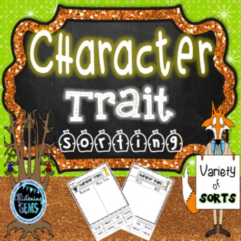 Fantastic Mr. Fox - Character Traits Sorting - No Prep