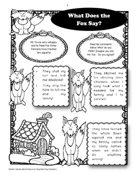 Fantastic Mr. Fox ( by Roald Dahl) - Novel Activities