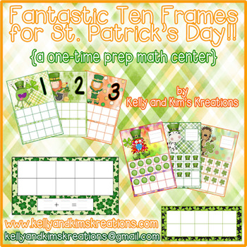Fantastic Ten Frames for St. Patrick's Day! {a one-time pr