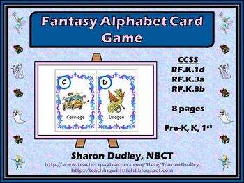 Fantasy Alphabet Card Game