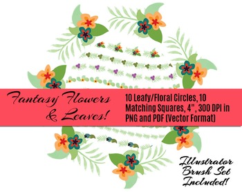 Fantasy Floral Rings & Things • 10 Vector Floral & Leaf Bo