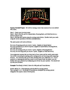 Fantasy Football Project