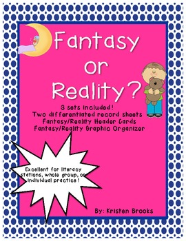 Fantasy Vs. Reality Literacy Station Activity