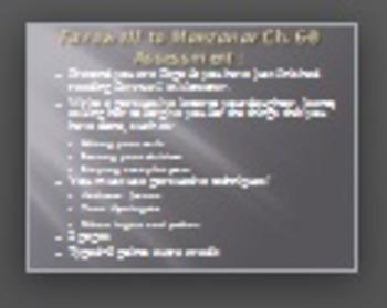 Farewell to Manzanar Chapter 6-8 Creative Writing Assignment