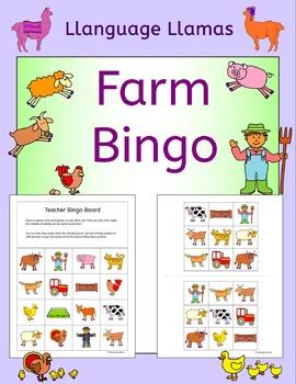 Farm Bingo for EFL ESL EAL MFL