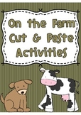 Farm Cut and Paste Activities