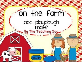 Farm Alphabet Play Dough Mats - A to Z