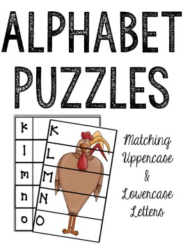 Farm Alphabet Puzzles: Matching Lowercase and Uppercase Letters