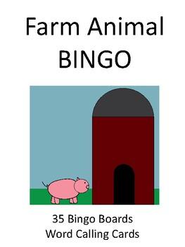 Farm Animal BINGO!