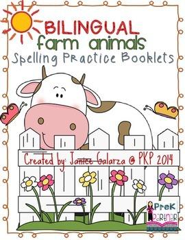 Farm Animal Booklet: BILINGUAL
