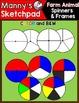 Farm Animal Clip Art: Spinners & Frames