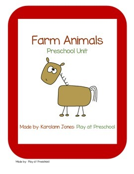 Farm Animal Preschool Printable Unit