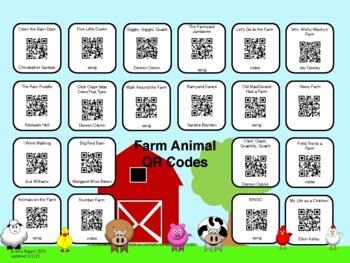 Farm Animal QR Codes