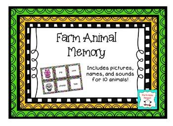 Farm Animal Sounds Memory