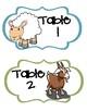 Farm Animal Themed Table Signs