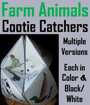 Farm Animals Activity/ Foldable: Rooster, Hen, Chick, Goos