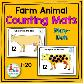 Farm Animal Play-Doh Counting Mats