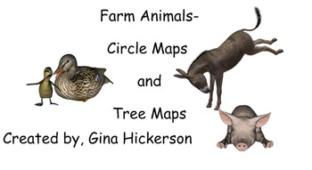 Farm Animals Circle Maps and Tree Maps for SmartBoards