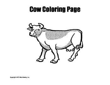 Farm Animals Coloring Page Bundle