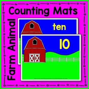 Farm Animal Counting Mat Math Center